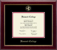 Howard College - San Angelo Diploma Frame - Gold Embossed Diploma Frame in Gallery