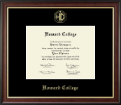 Howard College - San Angelo Diploma Frame - Gold Embossed Diploma Frame in Studio Gold