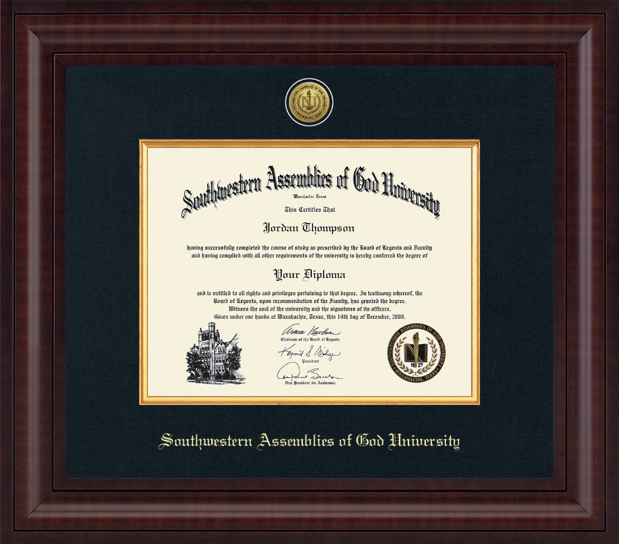 southwestern assemblies of god university diploma frame presidential gold engraved diploma frame in premier