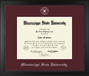 Mississippi State University Diploma Frame - Silver Embossed Diploma Frame in Arena