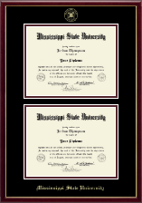 Mississippi State University Diploma Frame - Double Diploma Frame in Galleria
