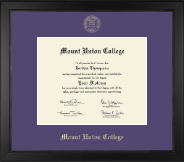 Mount Union College Diploma Frame - Gold Embossed Diploma Frame in Arena