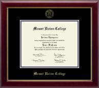 Mount Union College Diploma Frame - Gold Embossed Diploma Frame in Gallery