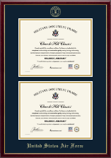 Double Certificate Frame