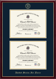 United States Air Force Certificate Frame - Double Certificate Frame in Galleria