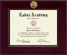Tabor Academy Diploma Frame - Century Gold Engraved Diploma Frame in Cordova