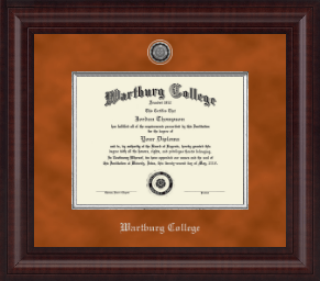 wartburg college diploma frame presidential silver engraved diploma frame in premier
