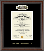 University of Missouri Kansas City Diploma Frame - Campus Cameo Diploma Frame in Chateau