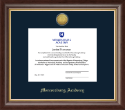 Mercersburg Academy Diploma Frame - Gold Engraved Medallion Diploma Frame in Hampshire