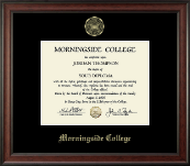 Morningside College Diploma Frame - Gold Embossed Diploma Frame in Studio