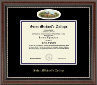 Saint Michael's College Diploma Frame - Campus Cameo Diploma Frame in Chateau