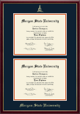 Morgan State University Diploma Frame - Double Diploma Frame in Galleria