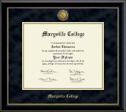 Maryville College Diploma Frame - Gold Engraved Medallion Diploma Frame in Onyx Gold