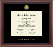 Mount Union College Diploma Frame - Gold Engraved Medallion Diploma Frame in Signature