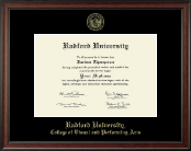 Radford University Diploma Frame - Gold Embossed Diploma Frame in Studio