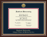 Radford University Diploma Frame - Gold Engraved Medallion Diploma Frame in Hampshire