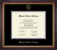 Mount Union College Diploma Frame - Gold Embossed Diploma Frame in Regency Gold