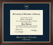University of Nebraska Kearney Diploma Frame - Gold Embossed Diploma Frame in Studio Gold