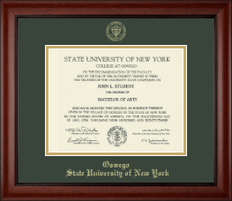 State University of New York at Oswego Diploma Frame - Gold Embossed Diploma Frame in Cambridge