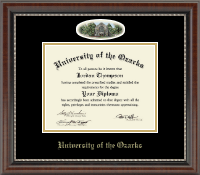 University of the Ozarks Diploma Frame - Campus Cameo Diploma Frame in Chateau