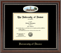 University of Denver Diploma Frame - Campus Cameo Diploma Frame in Chateau