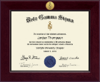 Beta Gamma Sigma Honor Society Certificate Frame - Century Gold Engraved Certificate Frame in Cordova