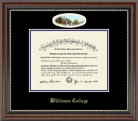 Williams College Diploma Frame - Campus Cameo Diploma Frame in Chateau