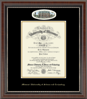 Missouri University of Science and Technology Diploma Frame - Campus Cameo Diploma Frame in Chateau