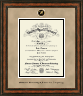 Missouri University of Science and Technology Diploma Frame - Heirloom Edition Diploma Frame in Ashford