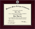 Western State College of Colorado Diploma Frame - Century Silver Engraved Diploma Frame in Cordova