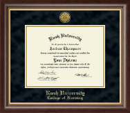 Gold Engraved Diploma Frame