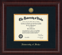 University of Idaho Diploma Frame - Presidential Gold Engraved Diploma Frame in Premier