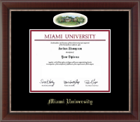 Miami University Diploma Frame - Campus Cameo Diploma Frame in Chateau