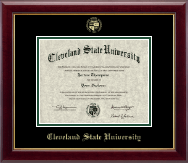 Cleveland State University Diploma Frame - Gold Embossed Diploma Frame in Gallery
