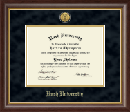 Rush University Diploma Frame - Gold Engraved Diploma Frame in Hampshire