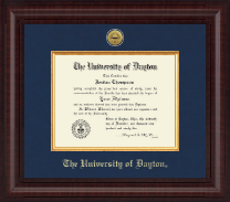 University of Dayton Diploma Frame - Presidential Gold Engraved Diploma Frame in Premier