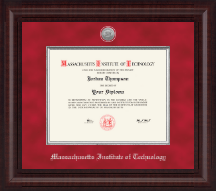 Massachusetts Institute of Technology Diploma Frame - Presidential Silver Engraved Diploma Frame in Premier