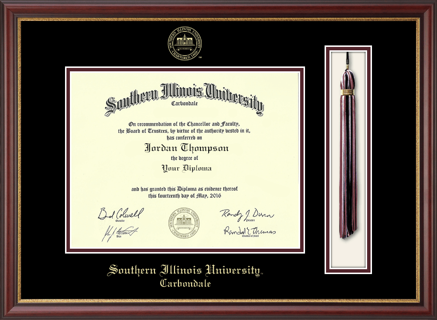 Southern Illinois University Carbondale Tassel Edition Diploma Frame ...