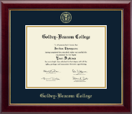 Goldey-Beacom College Diploma Frame - Gold Embossed Diploma Frame in Gallery