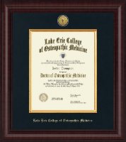 Lake Erie College of Osteopathic Medicine Diploma Frame - Presidential Gold Engraved Diploma Frame in Premier