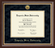 Emporia State University Diploma Frame - Gold Engraved Medallion Diploma Frame in Hampshire