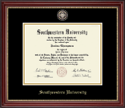 Southwestern University Diploma Frame - Masterpiece Medallion Diploma Frame in Kensington Gold