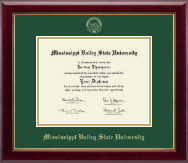 Mississippi Valley State University Diploma Frame - Gold Embossed Diploma Frame in Gallery