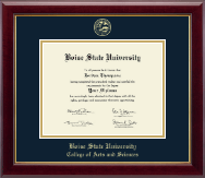 Boise State University Diploma Frame - Gold Embossed Diploma Frame in Gallery