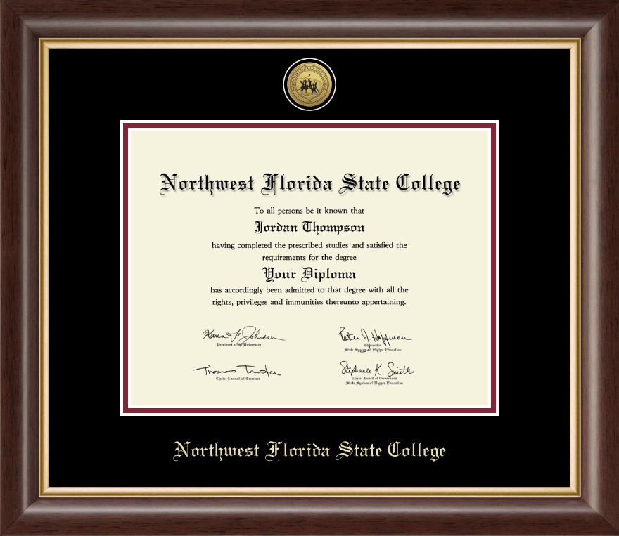 Northwest Florida State College Gold Engraved Medallion Diploma Frame In Hampshire Item 206246 From Northwest Florida State College