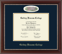 Goldey-Beacom College Diploma Frame - Campus Cameo Diploma Frame in Chateau