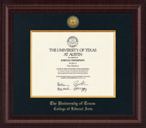The University of Texas Austin - College of Liberal Arts - Diploma ...