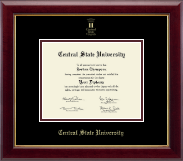 Central State University Diploma Frame - Gold Embossed Diploma Frame in Gallery