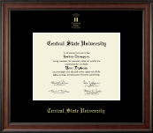 Central State University Diploma Frame - Gold Embossed Diploma Frame in Studio