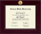 Central State University Diploma Frame - Century Gold Engraved Diploma Frame in Cordova